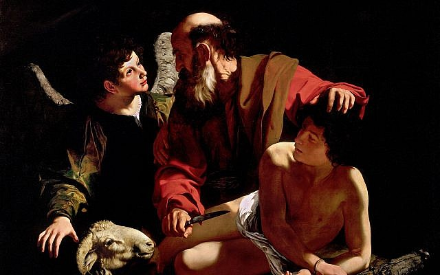 'The Sacrifice of Isaac,' by Caravaggio, c. 1603. (Wikipedia).