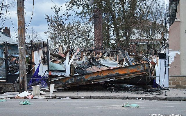 Home destroyed in Hurricane Sandy, New York, 2012 (Tamra Walker)