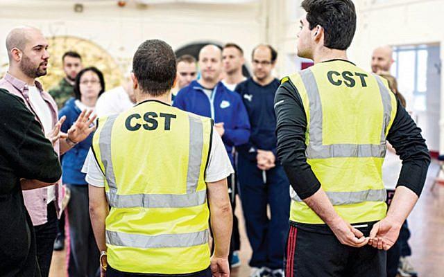 CST volunteers in training