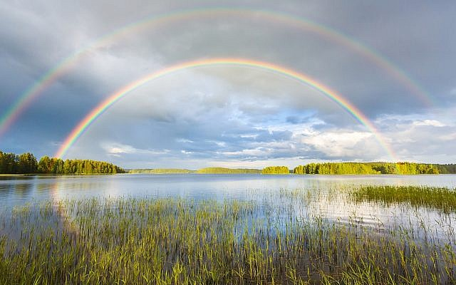 Illustrative. Midsummer rainbow in over a lake in Finland. (iStock)