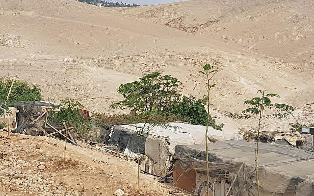 Khan Al Akhmar in Threatening Shadow of Kfar Adumim