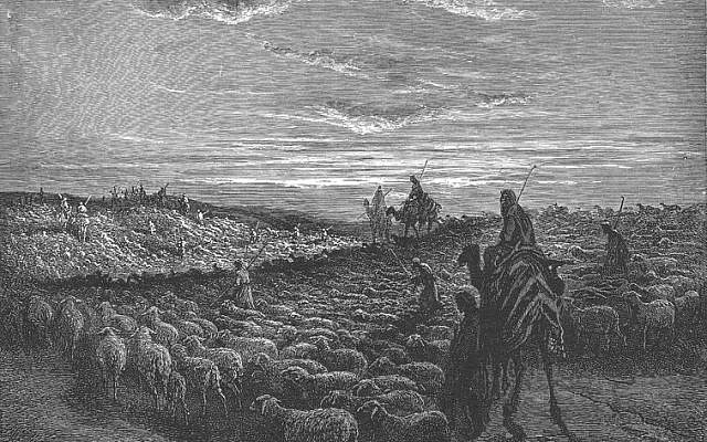 Illustrative: Abraham Goes to the Land of Canaan, by Gustave Dore, 1866. (Wikimedia Commons).