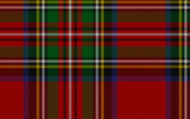 Royal Stewart tartan (CC BY-SA MyNikki, Wikimedia Commons)