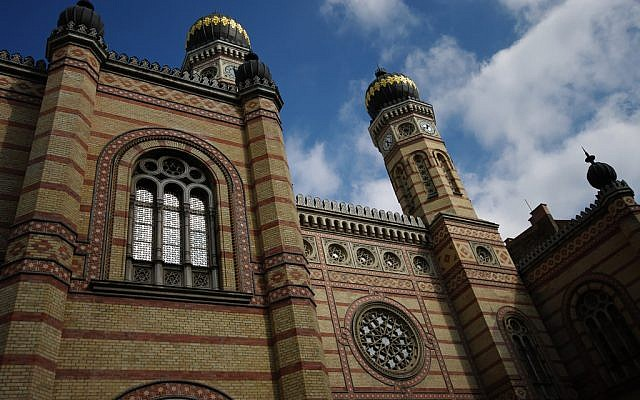 Dohány Street Synagogue in Budapest, Hungary.