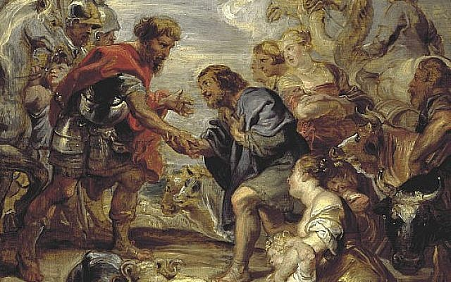 'Reconciliation of Jacob and Esau,' by Peter Paul Rubens, 1624. (Wikipedia)