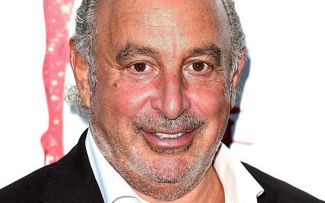 Topshop owner Sir Philip Green. Photo credit Ian WestPA Wire - via Jewish News