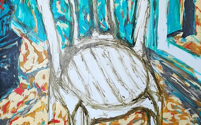 Yoel Gilon,Van Gogh Chair Painting From Keter PLastic 2018