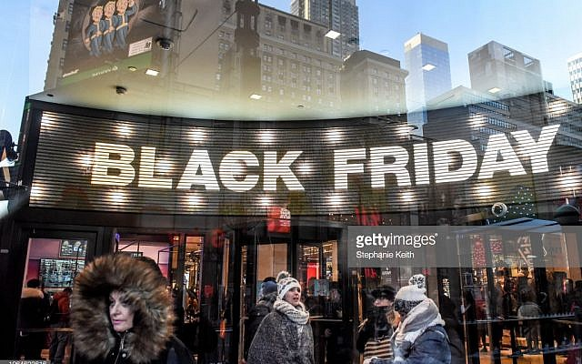 NEW YORK, NY - NOVEMBER 23: People shop at the Macy's flagship store on 34th St. on Black Friday on November 23, 2018 in New York City. The day after Thanksgiving, Black Friday is considered to be the start of the holiday shopping season, with shoppers heading to stores and online for deals.(Photo by Stephanie Keith/Getty Images)
