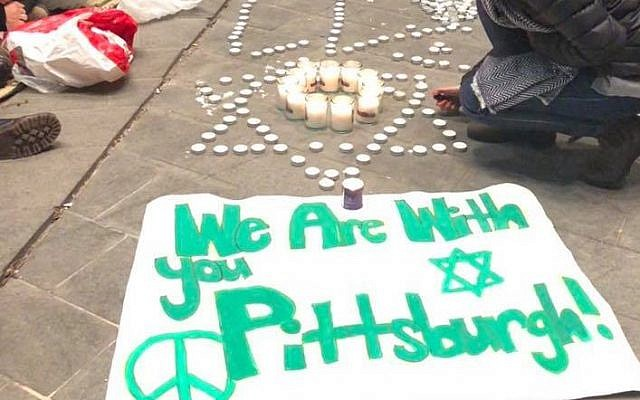 Vigil held in Israel (Courtesy of the Jewish Federation of Greater Pittsburgh)