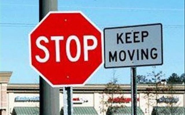 stop-keep moving (collage by author)
