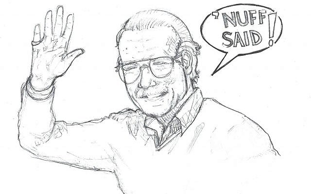 Pencil sketch of Stan Lee (Artist: Sam Starr).