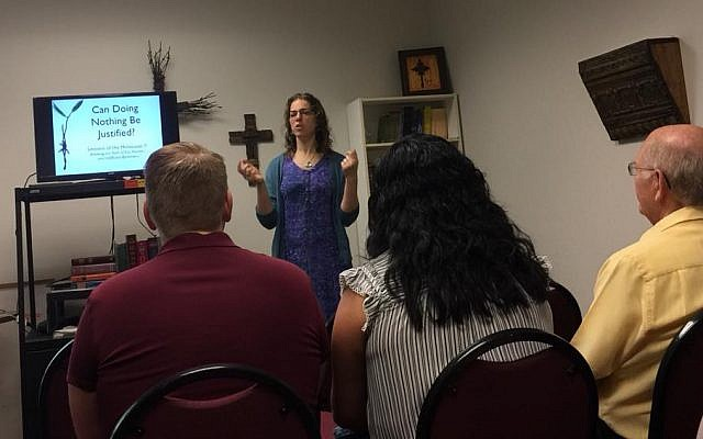 Teaching the Holocaust at the Creekwood Christian Church in Flower Mound, Texas.
