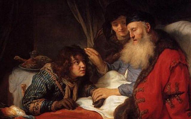 Isaac Blessing Jacob by Govert Teunisz Flinck (1639)