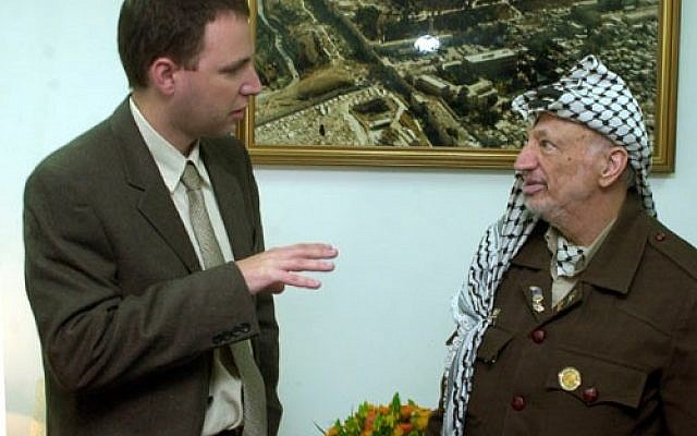 Yasser Arafat, seen here with the columnist, may get his wish at last.