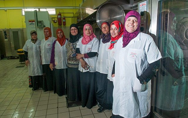 Team members of the Hura Catering Enterprise- Al Sanabel (Courtesy of AJEEC- NISPED the Arab-Jewish Center for Empowerment, Equality, and Cooperation Negev Institute for Strategies of Peace and Economic Development).