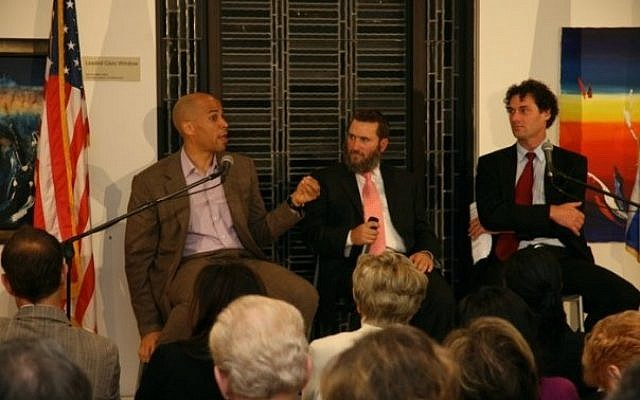 Cory Booker and Shmuley Boteach at happier times. (Courtesy shmuley.com, via The TImes of Israel)