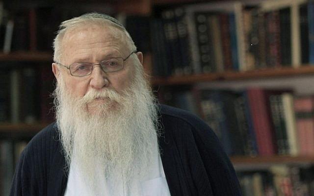 Rabbi Haim Meir Druckman. (Tsafrir Abayov/Flash90)