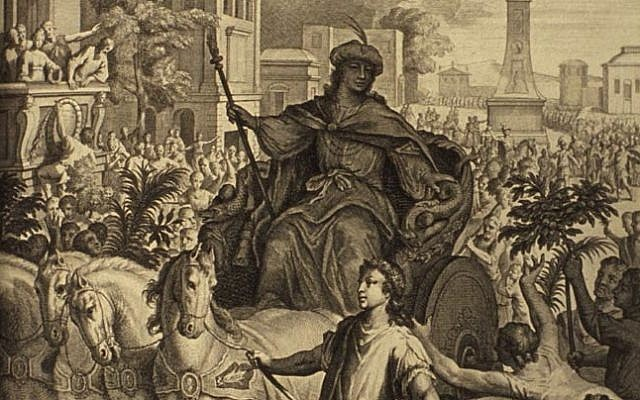 One of the cleverest and most successful men in Jewish history, Joseph isn't just an interpreter of dreams, he is a quick proactive thinker and doer who sees it all in the context of God's grand design. (Joseph Rides in a Chariot through Egypt, Figures de la Bible, illustrated by Gerard Hoet, 1728, Netherlands.)