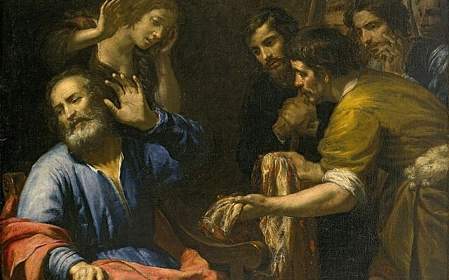 'Joseph's Coat Brought to Jacob,' by Giovanni Andrea de Ferrari, c. 1640. (Wikipedia)