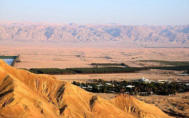 Overlooking Kibbutz Ketura. (Courtesy of the Arava Institute)