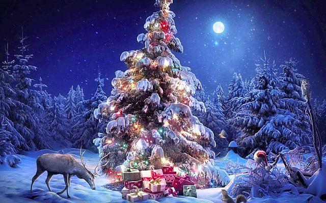 Illustrative. Stylized 'New Year's' tree (s novim godom с новым годом!). (YouTube)