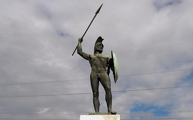 Statue of Spartan King Leonidas in Thermopyles. (CC BY-SA EntaXoyas, Wikimedia Commons)