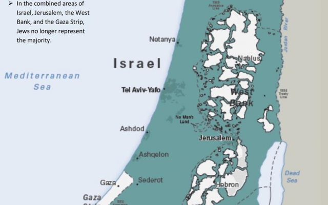 Palestinian autonomy map (Source: US State Department)