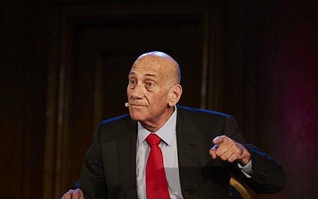 Ehud Olmert in London, June 2018 (Jewish News)
