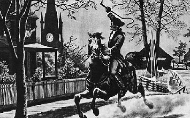 Paul Revere's midnight ride. (Public Domain/ Wikimedia Commons)