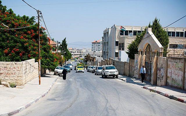 A street in Jenin, 2011. (Almonroth [CC BY-SA 3.0, via Wikimedia Commons0