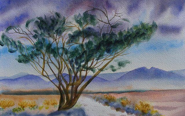 """Acacia"" - Marla Slott (watercolor, 2016)"