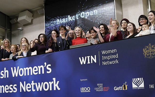 The Jewish Women's Business Network at the market opening of the London Stock Exchange on 22 January 2019