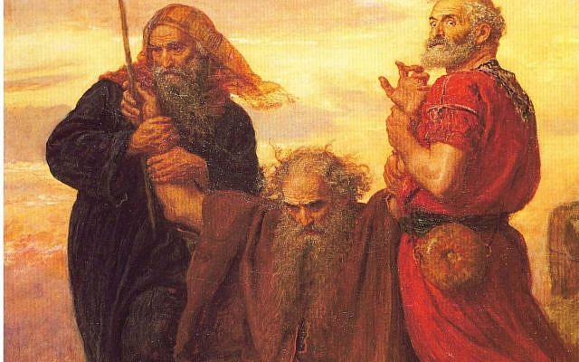 Illustrative. From 'Victory O Lord!' by John Everett Millais, 1871, depicts Moses holding up his arms during the Battle of Rephidim, assisted by Hur (left) and Aaron. (Wikipedia)