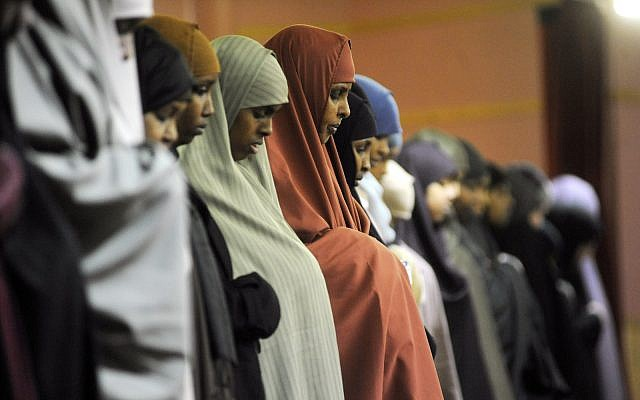 Illustrative: Prayers at the Abubakar As-Saddique Islamic Center in Minneapolis, MN, February 25, 2009. (AP/Photo Craig Lassig)