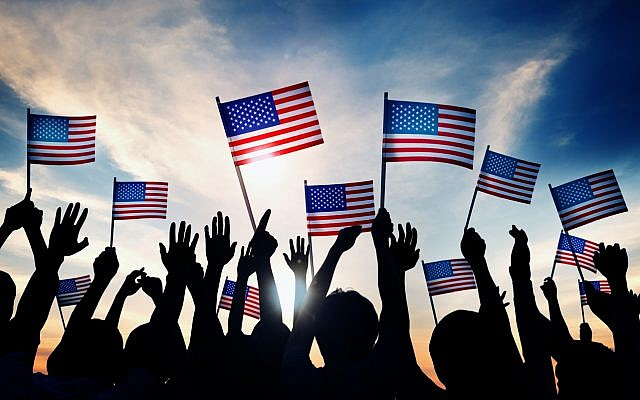 Illustrative. Patriotic Americans. (iStock)