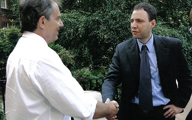 (The author interviews Tony Blair at 10 Downing St, 2005)