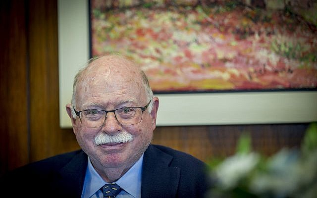 Michael Steinhardt attends a meeting at the Knesset in Jerusalem on April 26, 2017. (Yonatan Sindel/Flash90)
