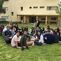 EMIS and NYU students having picnic/lunch together.