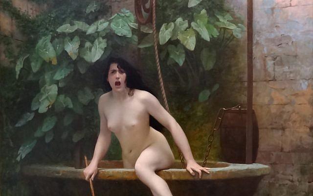 La Vérité sortant du puits armée de son martinet pour châtier l'humanité, by  Jean-Léon Gérôme.