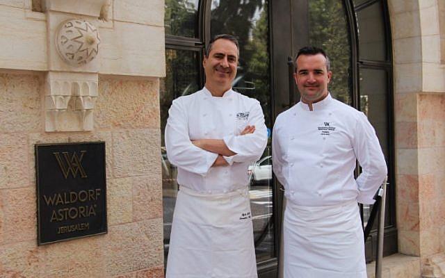 chef Frédéric Larquemin and chef Itzik Mizrahi Barak , photo: Johanna Geron