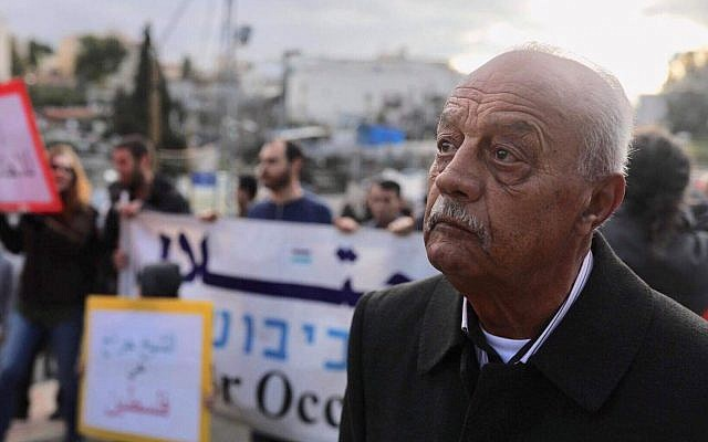 """Mohamed Sabbagh - together with 32 members of his family - face eviction from their home of sixty years. If evicted, God forbid, the Palestinian residents will be replaced by """"Judaification"""" activists  associated with private NGOs. [Photo by Free Jerusalem]"""