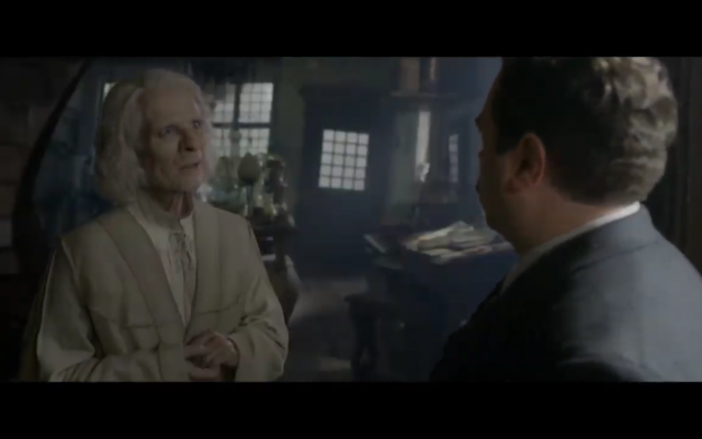 Nicolas Flamel in Fantastic Beasts: The Crimes of Grindelwald. (Screen capture: YouTube)