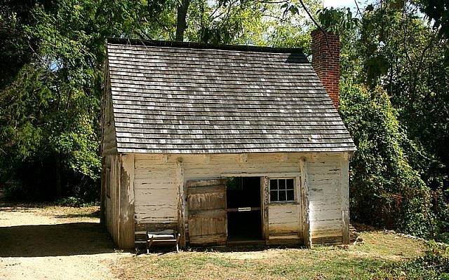 The Slave Dwelling Project aims to highlight the lives of enslaved people by bringing people to sleep in the places where they lived, like this dwelling at Sotterly Plantation in Maryland. (Source: Wikimedia Commons)