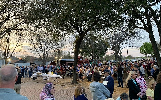 More than 300 people attended a vigil in support of the Muslim community in Flower Mound, TX. (Source: Islamic Association of Lewisville and Flower Mound)