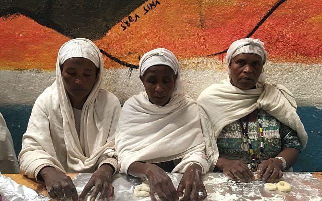 Baking challah at the synagoge in Gondar, Ethiopia.