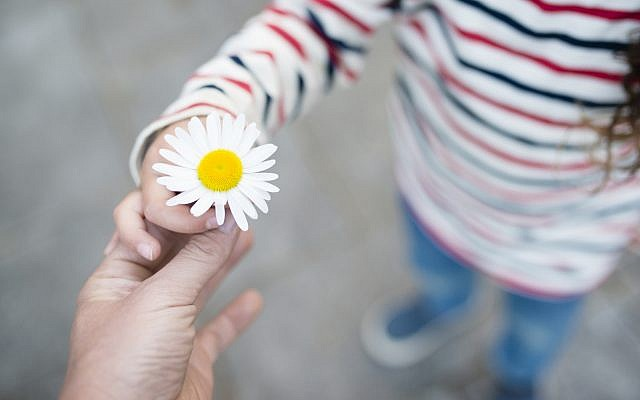 Illustrative. An mark of kindness - sharing a flower. (iStock)