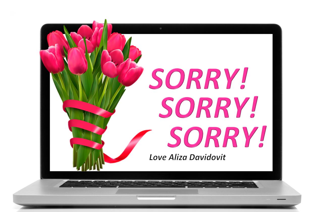 Sorry! Sorry! Sorry! | Aliza Davidovit | The Blogs