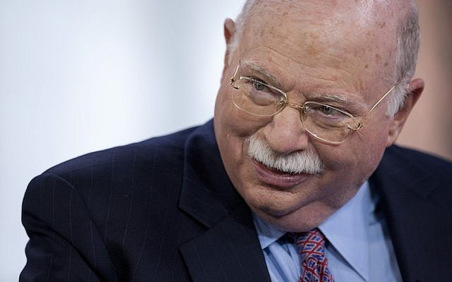 Michael Steinhardt, chairman of WisdomTree Investments Inc., speaks during an interview in New York, US, on April 12, 2012. (Scott Eells/Bloomberg via JTA)