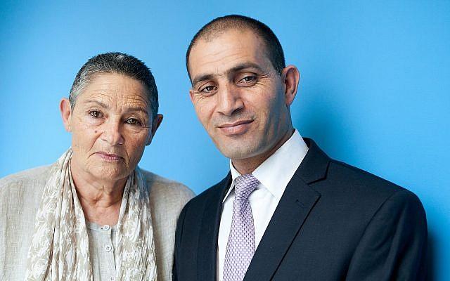 Robi Damelin and Bassam Aramin.  Photo credit: Ryan Kellman/NPR