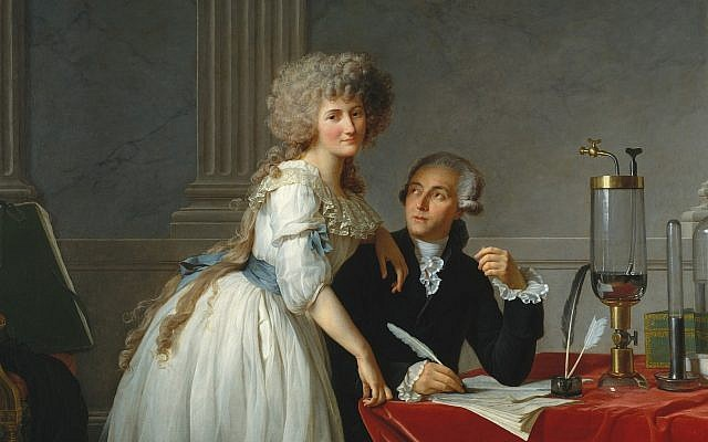 Portrait of Antoine-Laurent Lavoisier and his wife  Marie-Anne Pierrette Paulze by Jacques-Louis David, ca. 1788. (Public Domain/ Wikimedia Commons)